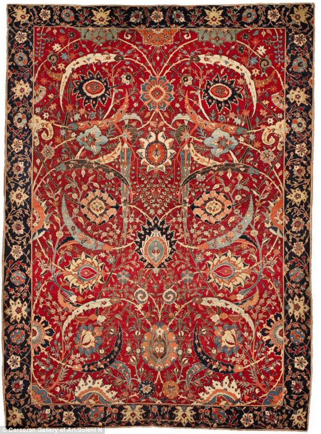 Worlds most Expensive Oriental Rug, Red Floral design