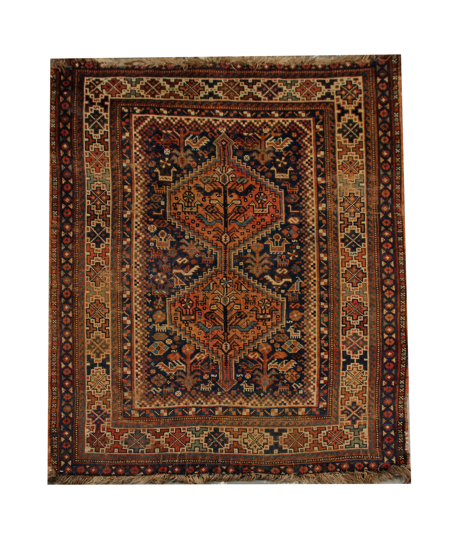 Antique Carpet Persian Hand Woven Rug Tribal Rug By