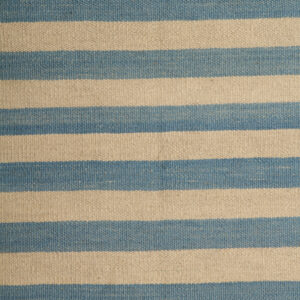 Blue And Cream Kilim Rug