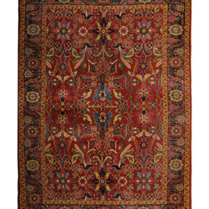 Rust Antique Persian Mahal Carpet